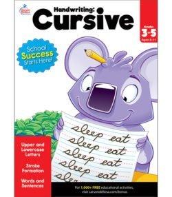 Brighter Child Cursive Workbook, Grade 3-5