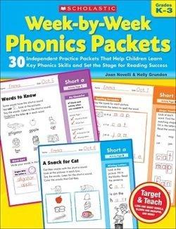 Scholastic Week-By-Week Phonics Packets, Grades K-3