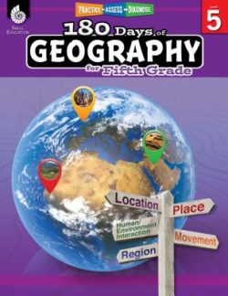 Shell Education 180 Days Of Geography Workbook, Grade 5