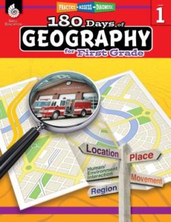 Shell Education 180 Days Of Geography Workbook, Grade 1