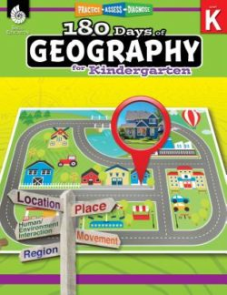 Shell Education 180 Days Of Geography Workbook, Grade K