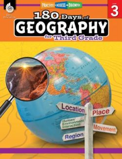 Shell Education 180 Days Of Geography Workbook, Grade 3