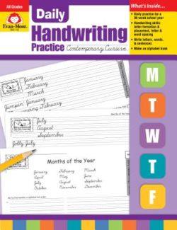 Evan Moor Handwriting Practice Workbook