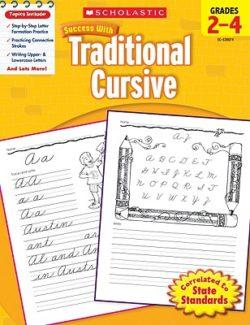 Scholastic Traditional Cursive Handwriting Workbook, Grade 2-4