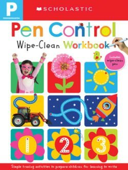 Scholastic Wipe Clean Workbooks: Pen Control for Early Learners