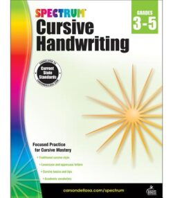 Spectrum Cursive Handwriting, Grade 3-5