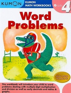 Kumon Word Problems Workbook, Grade 4